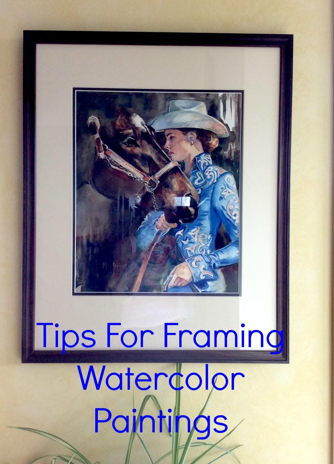 Maria\'s Watercolor: Framing Tips For Watercolor Paintings