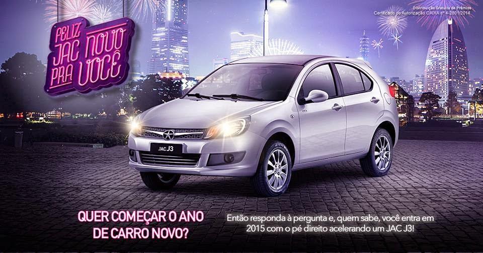Promoção Feliz JAC novo pra você  - Concorra a 1 carro da Jac Motors!