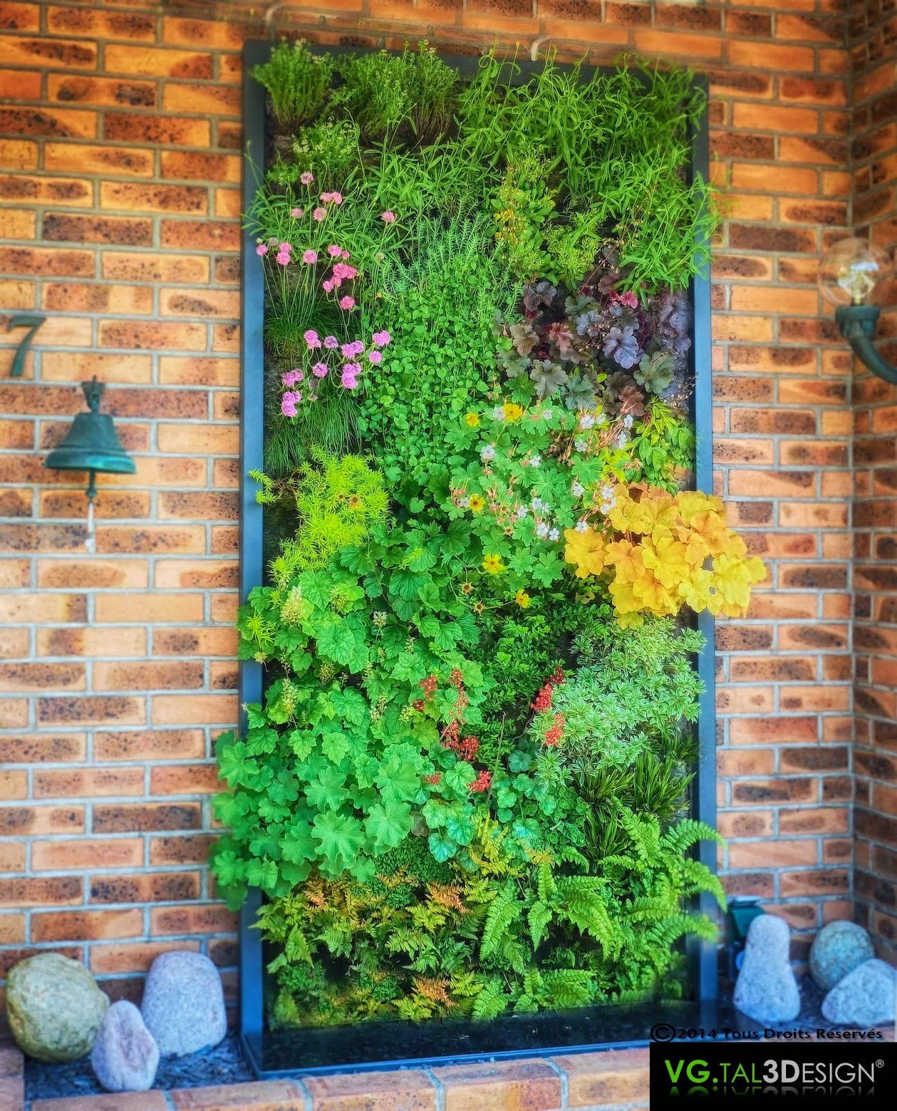 VGTAL3DESIGN: Mur végétal extérieur
