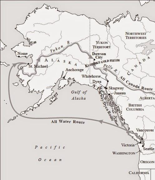 Rutas fiebre del oro Alaska