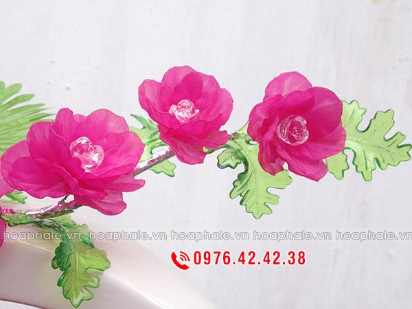 Nguyên liệu làm hoa hồng pha lê