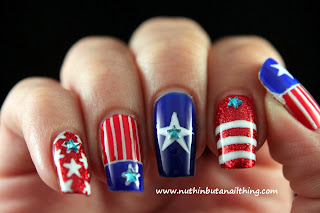 independence day fourth of july nail art