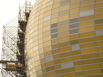 Zaokrąglona elewacja, kopuła Baltic Arena