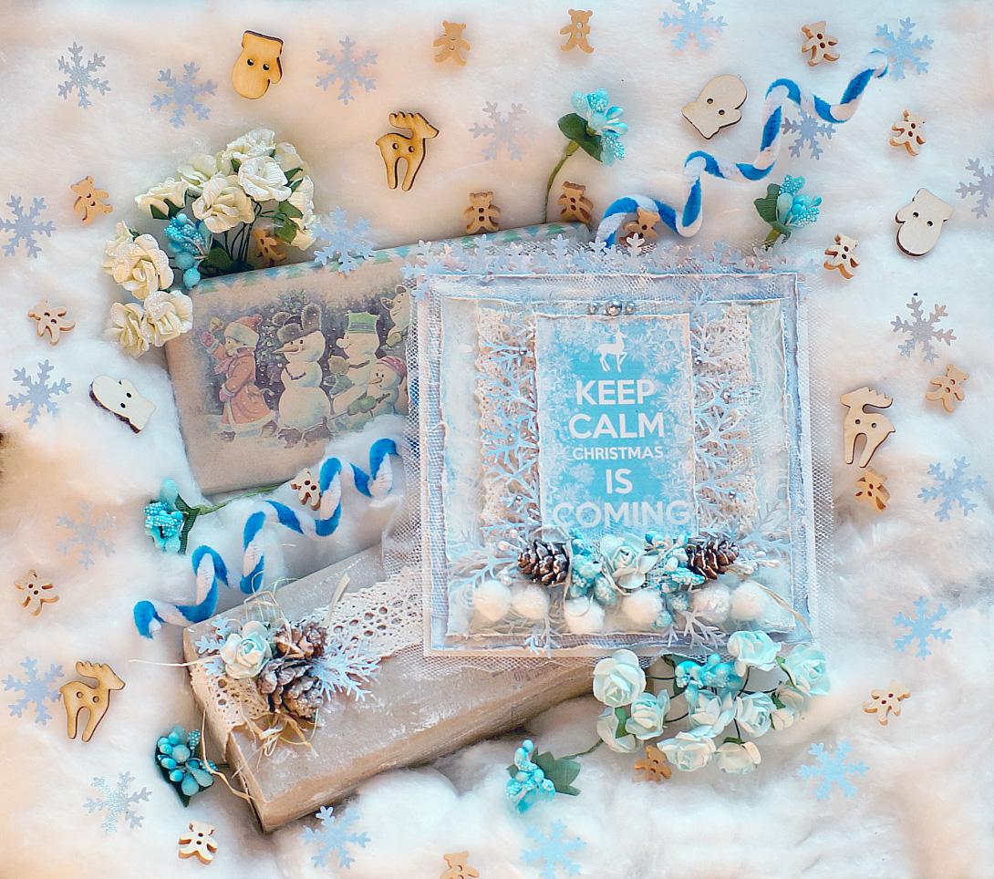 Обмен подарочками от Happy Scrap Moments и ананос марафона от Scrap Kopilki