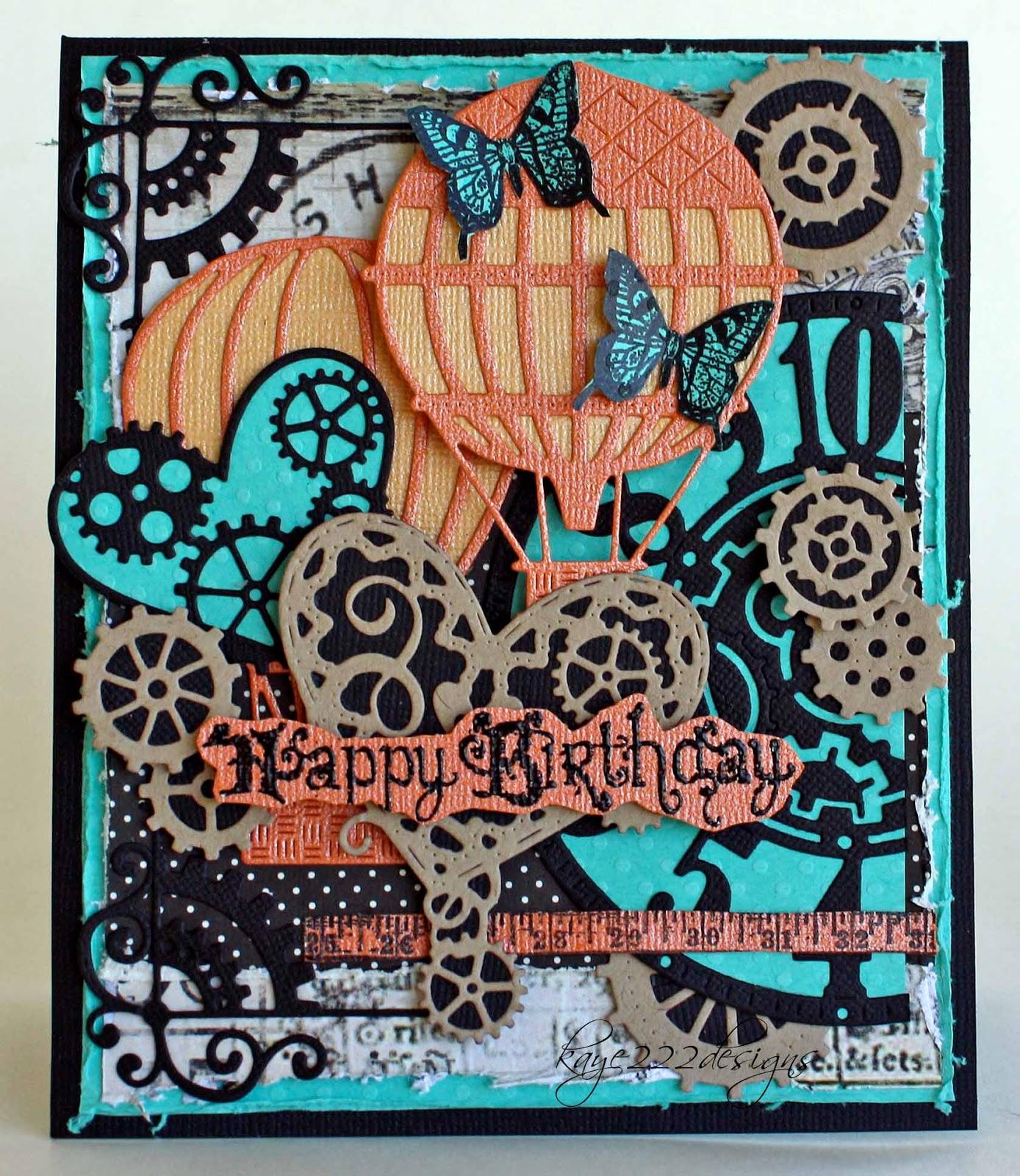 Steampunk Birthday With Lisa Blastick Cheery Lynn Designs – Steampunk Birthday Card