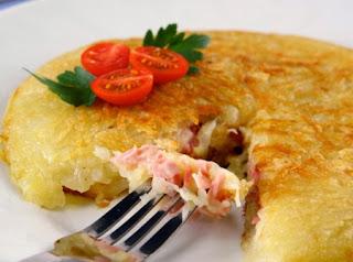 #receita de #batata #recheada com #presunto e #queijo
