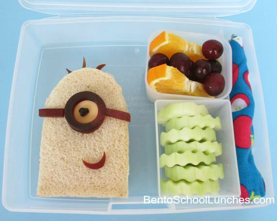 Minion bento lunch.