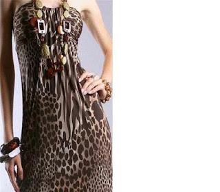 imagens de modelos de Vestidos de Onça