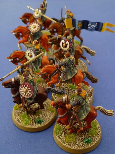 L'Eored  au complet (huit cavaliers)
