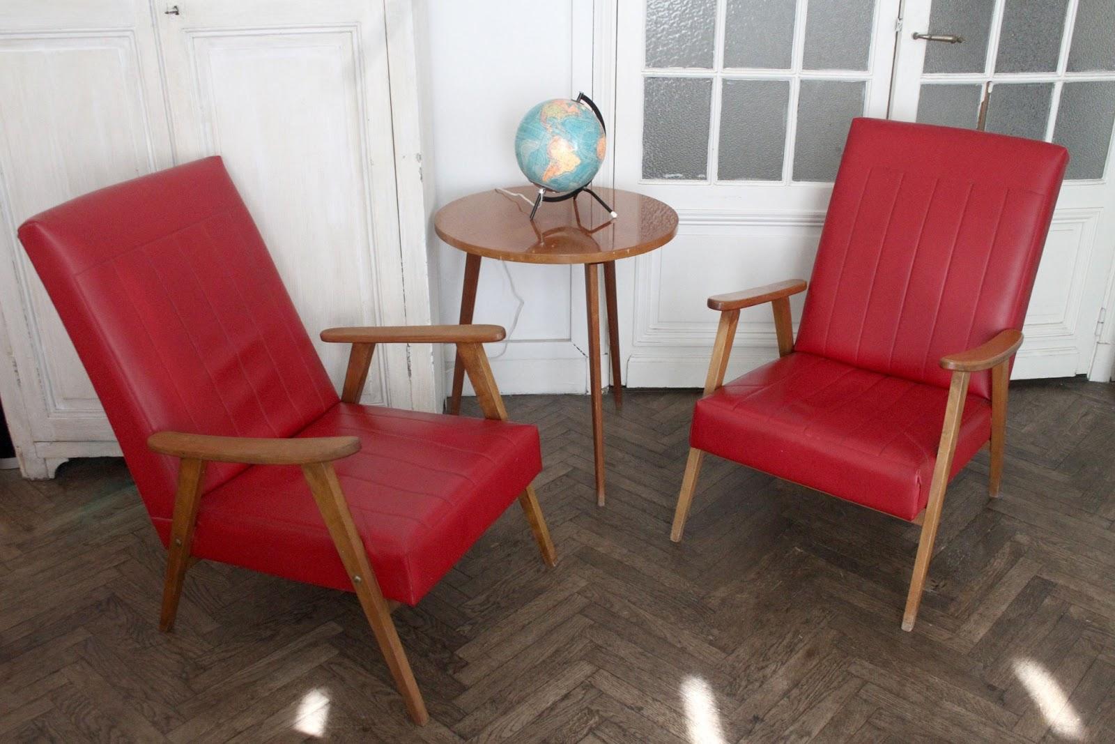 chicbaazar objets vintage 50 60 70 paire de fauteuils sauterelle ska ann e 50 60. Black Bedroom Furniture Sets. Home Design Ideas
