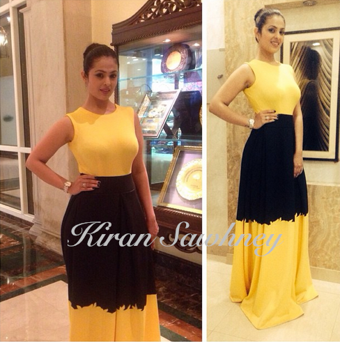 Anjana Sukhani in Mayyur Girotra Luxury at Time Food Awards
