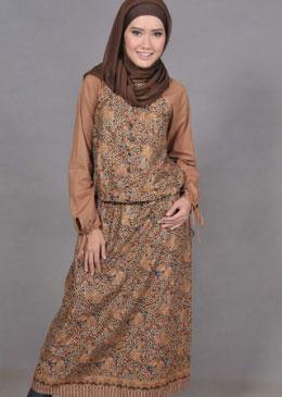Baju Batik Muslim Muslimah Modern