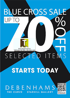 Debenhams Blue Cross Sale 2012