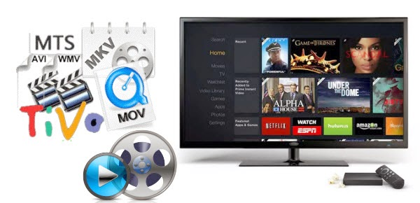 Enjoy downloaded AVI/MKV/TiVo/WMV/MTS/VOB on Amazon Fire TV