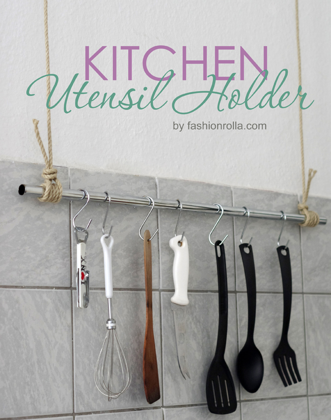 DIY kitchen utensil holder created by xenia kuhn for fashionrolla.com
