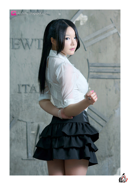 2 Lee Eun Seo - White Sheer and ruffle skirt-very cute asian girl-girlcute4u.blogspot.com