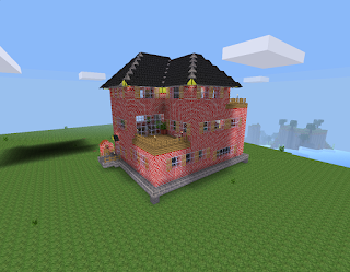 Casa construida por un jugador de Minetest