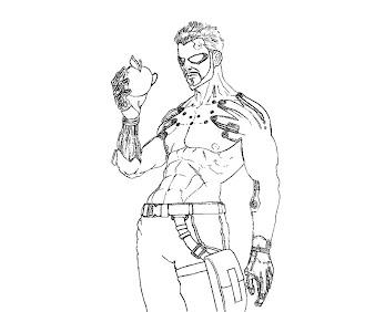 #5 Deus Ex Coloring Page
