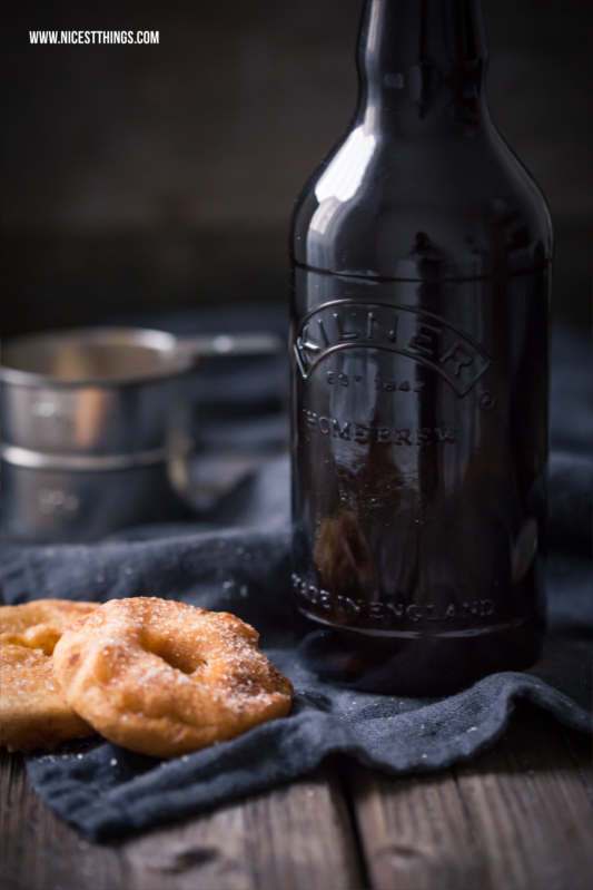 Kilner Beer Bottle and Apple Fritters