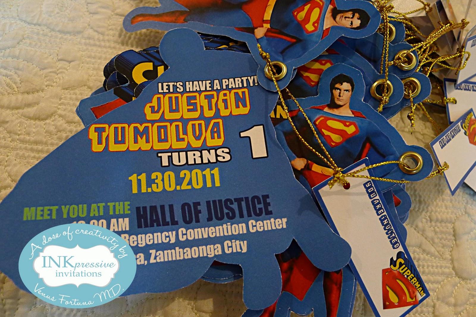 Superman Theme Birthday Invitation | INKPRESSIVE INVITATIONS