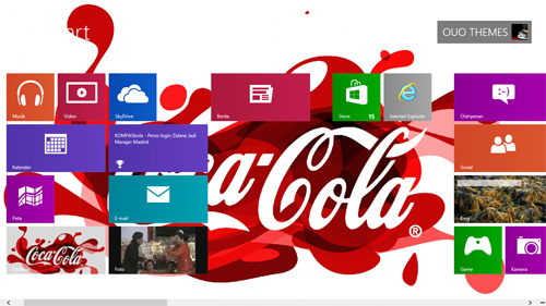 Coca Cola Theme For Windows 7 8 9 Blue