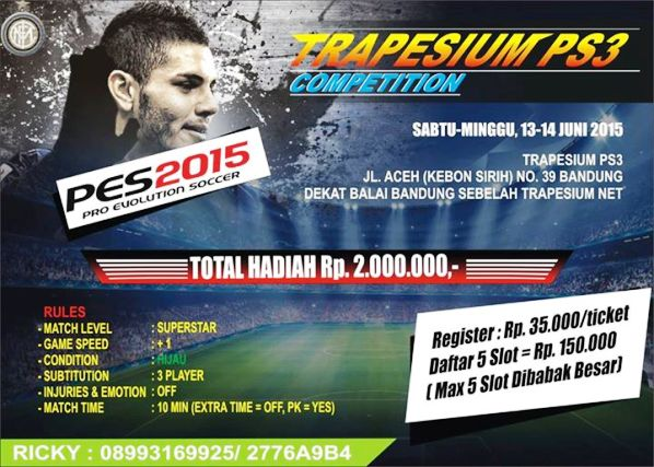 PES 2015 Tournament di Bandung Juni 2015