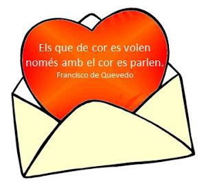 """""""Los que de corazón se quieren sólo con el corazón se hablan"""""""
