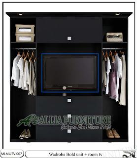Lemari minimalis modern tv unit Bold