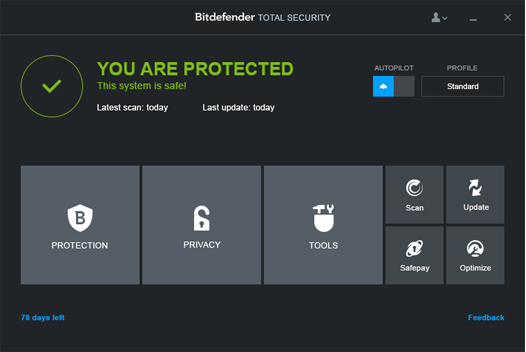 Bitdefender Total Security 15 - Beta Protection