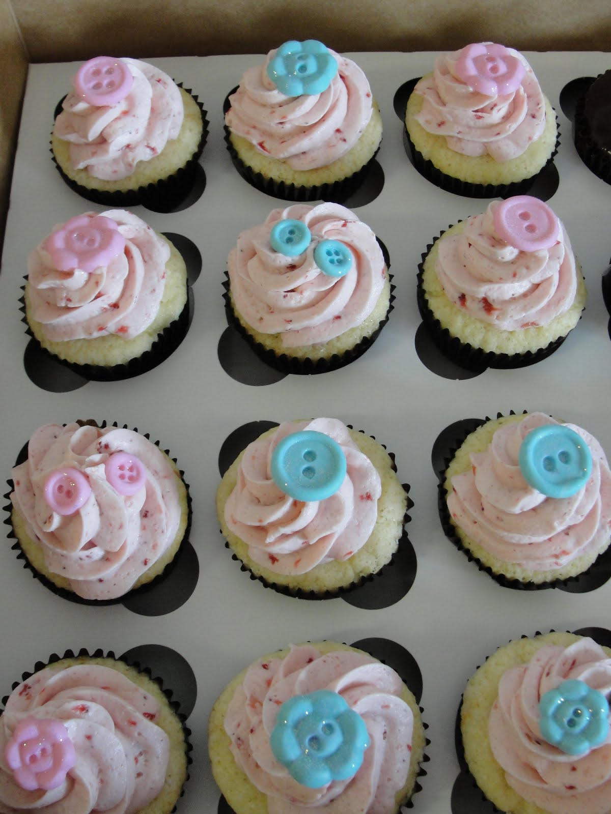 Pink Baby Shower Cupcakes : Oh, just put a cupcake in it....: Various Pink and Blue ...