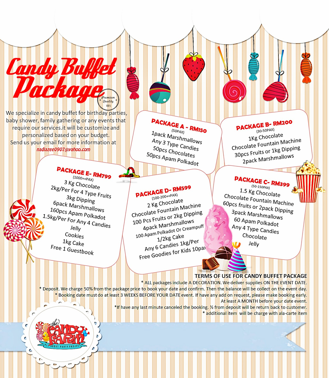 Candy Farm Project Candy Buffet Package