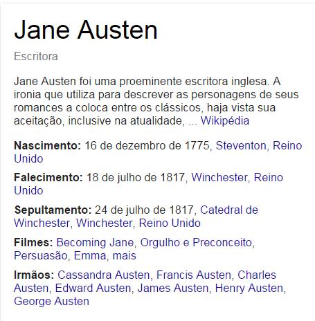 239º Aniversário de Jane Austen