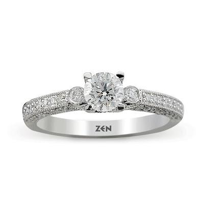 Zen Diamond Tek taş yüzük