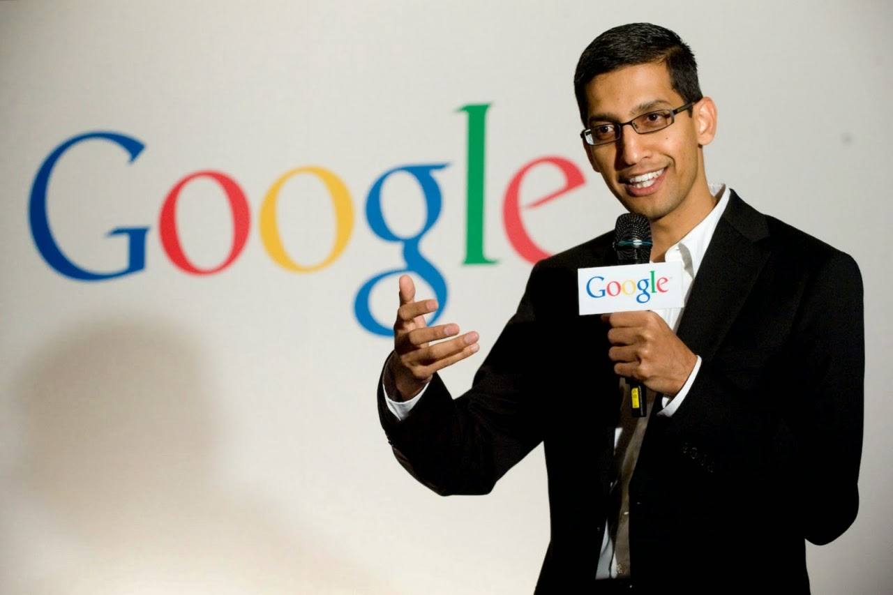sundar pichai leads google products