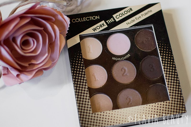 COLLECTION Work the colour nude eye shadow palette review swatch pictures cheap