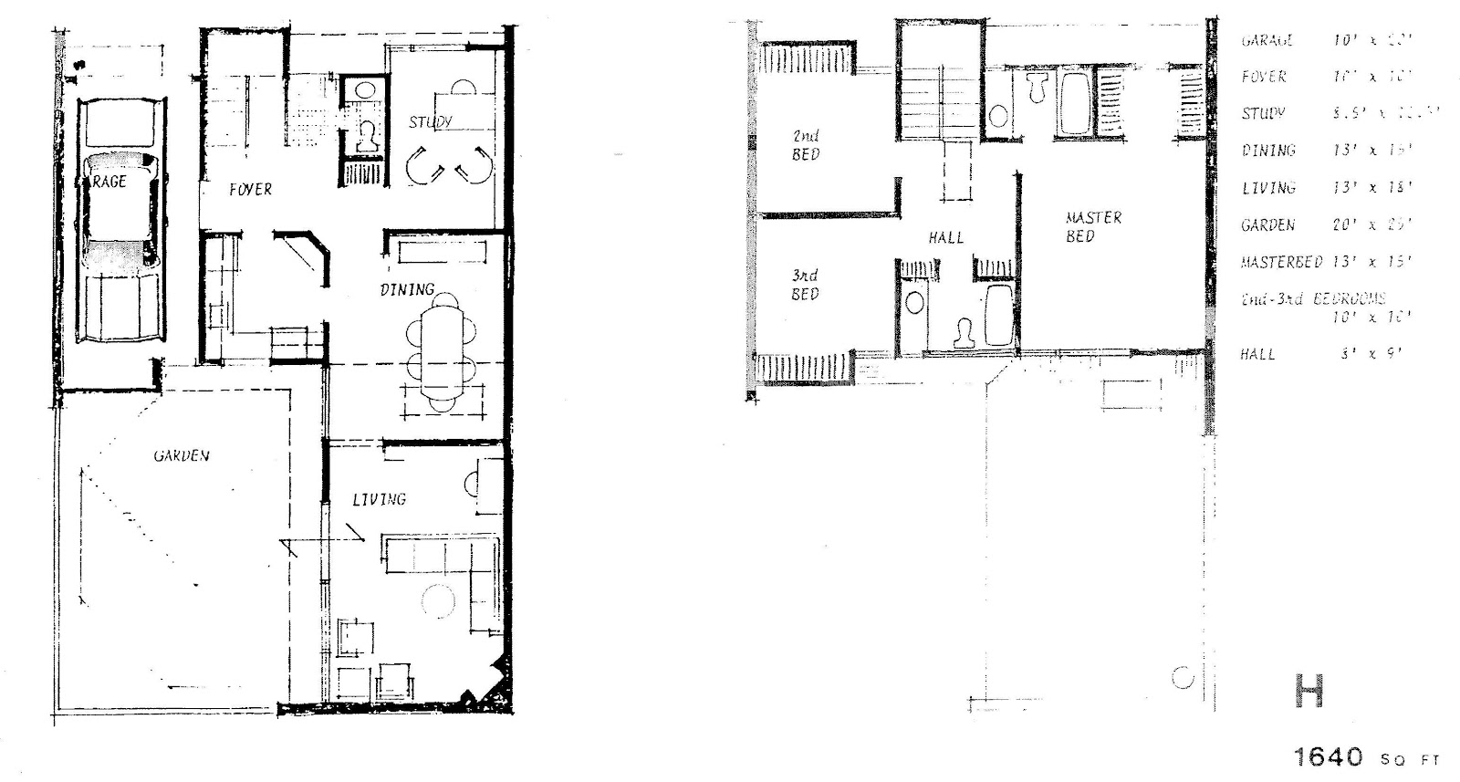 Mid century modern and 1970s era ottawa the modern for Stacked townhouse floor plans