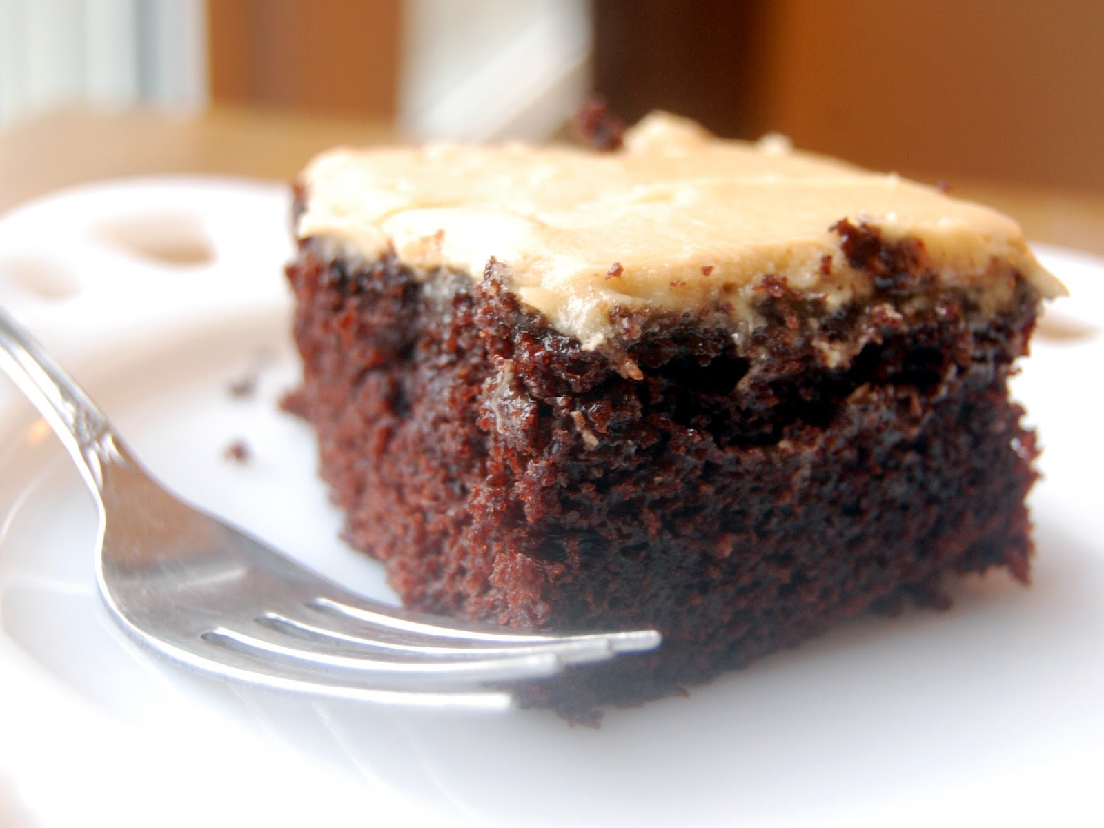 Cassie Craves Mocha Snack Cake With Peanut Butter Cream Cheese Frosting