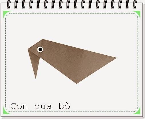 Cách gấp xếp con quạ bò bằng giấy origami - Video hướng dẫn xếp hình - How to make a Crawling Crow