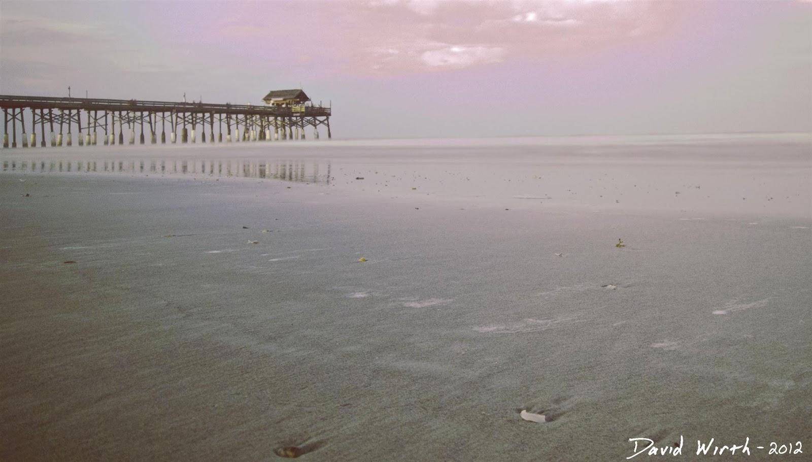 cocoa beach florida, ocean pier, sunset