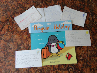Penguin On Holiday Post Cards