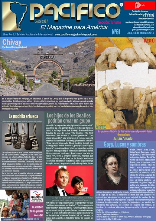 Revista Pacífico Nº 61 Turismo