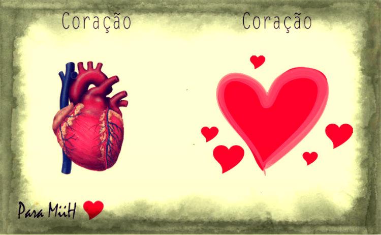 Dois corações. Um que bate, outro que sente.