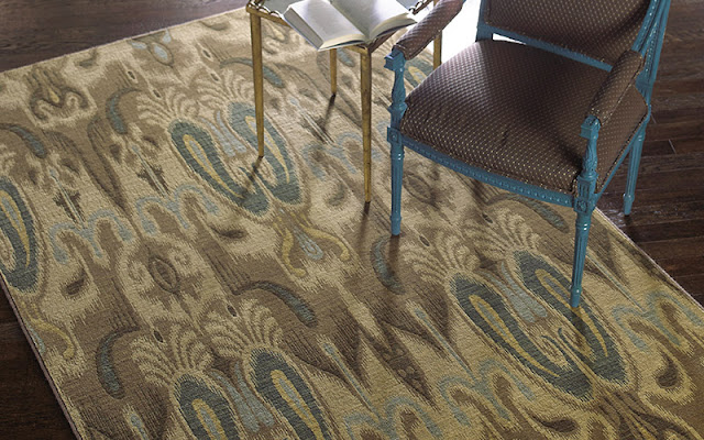 A patterned area rug is both beautiful and comfortable underfoot.