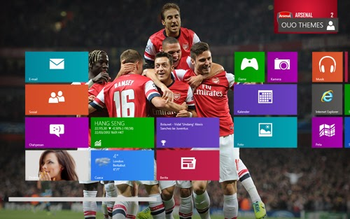 2014 Arsenal Fc Theme For Windows 7 And 8 8.1