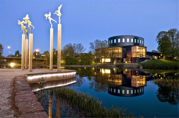 La Casa de los Conciertos y Los Ángeles Musicales de Carl Milles, Gävle, Suecia.