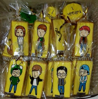 Royal Icing decorated Runningman Fancy Cookies