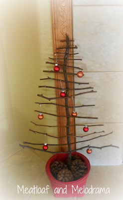 rustic twig Christmas tree