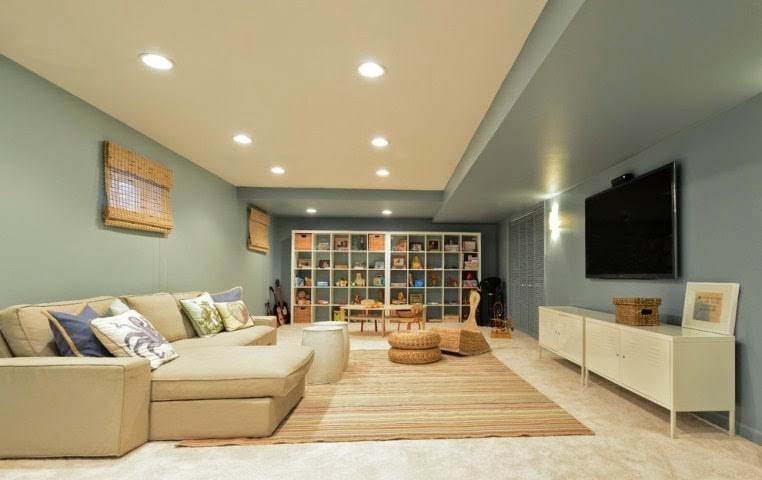 Interior paint colors for basements for Dark interior paint colors