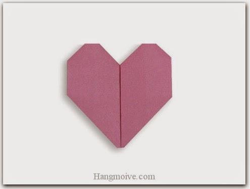 Cách gấp, xếp trái tim bằng giấy origami - Video hướng dẫn xếp hình trái tim quà tặng - How to fold a Heart