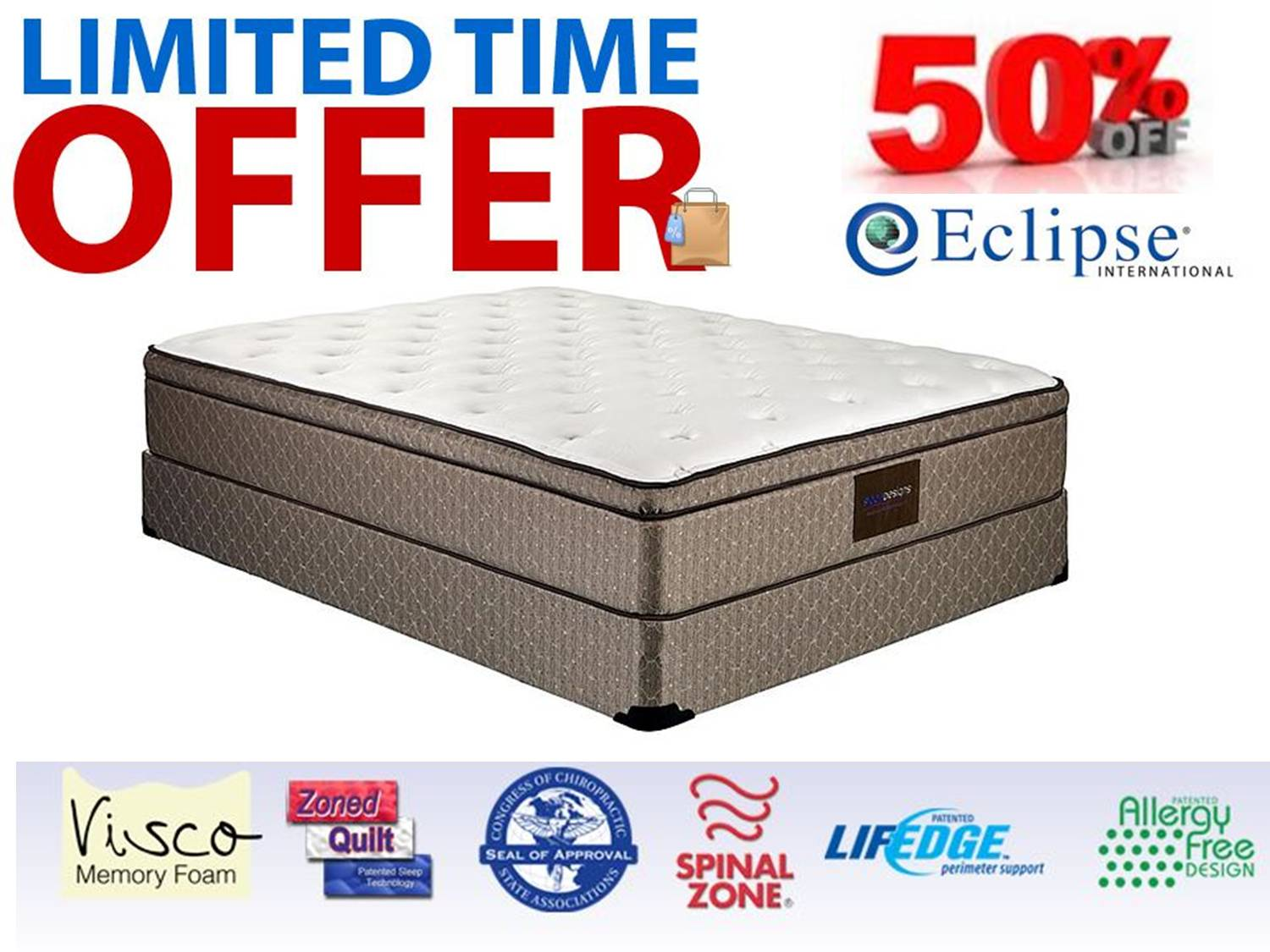 Natura Torrence Firm Mattress Set (Cal-king) Compare Prices